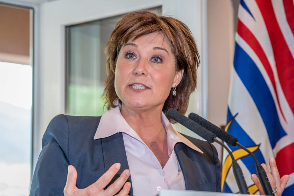 B.C. Premier Christy Clark spoke last Thursday at a lunch organized by the South Okanagan Chamber of Commerce at the Silver Sage Winery.